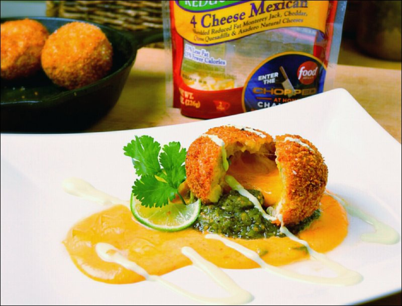 Food Network's Chopped at Home Challenge Round 2 Cheesy Chicken Jalapeno Popper Arancini